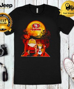 Snoopy and Charlie Brown San Francisco 49ers happy Halloween shirt