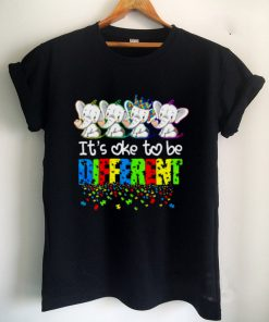Autism Elephants Its Ok To Be Different Awareness Shirt